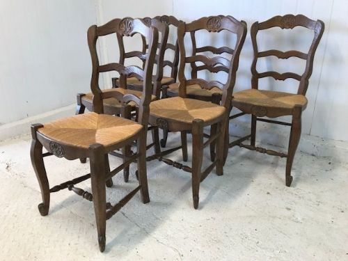Set of 6 Traditional French Dining Chairs - g4